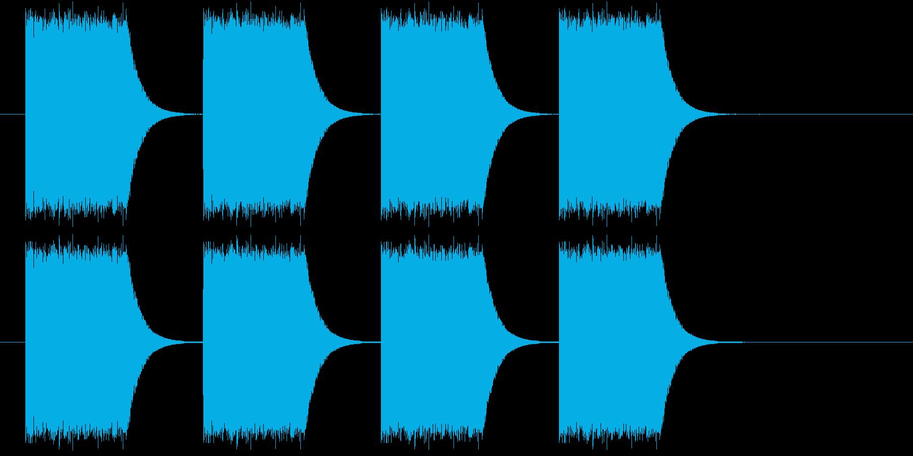 ギュイーン(サイレン、アラーム音)の再生済みの波形