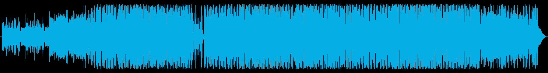 少しレトロなGame風BGmの再生済みの波形
