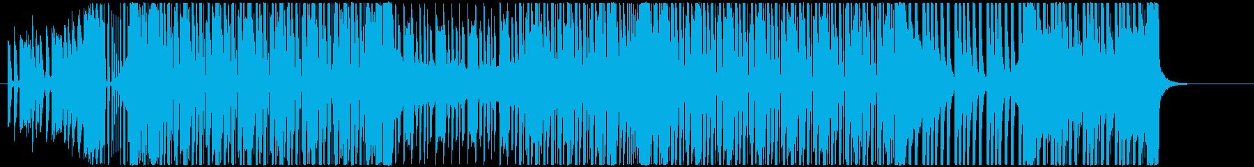 ロックギターダンスミュージックの再生済みの波形