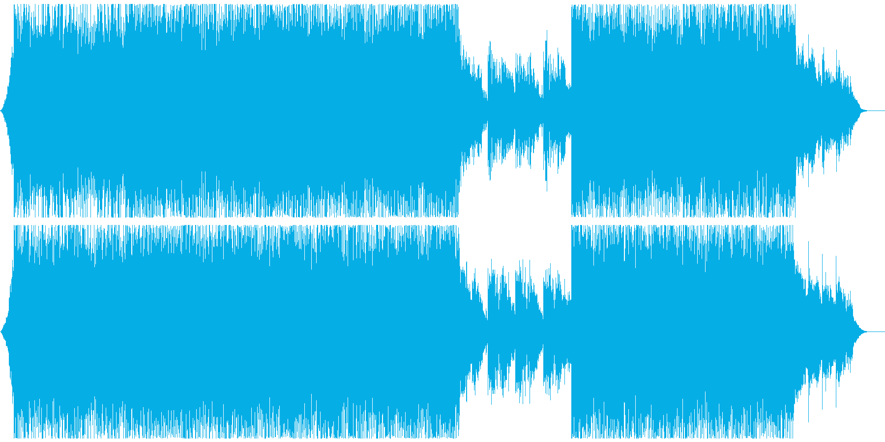 モダン テクノ アンビエント コー...の再生済みの波形
