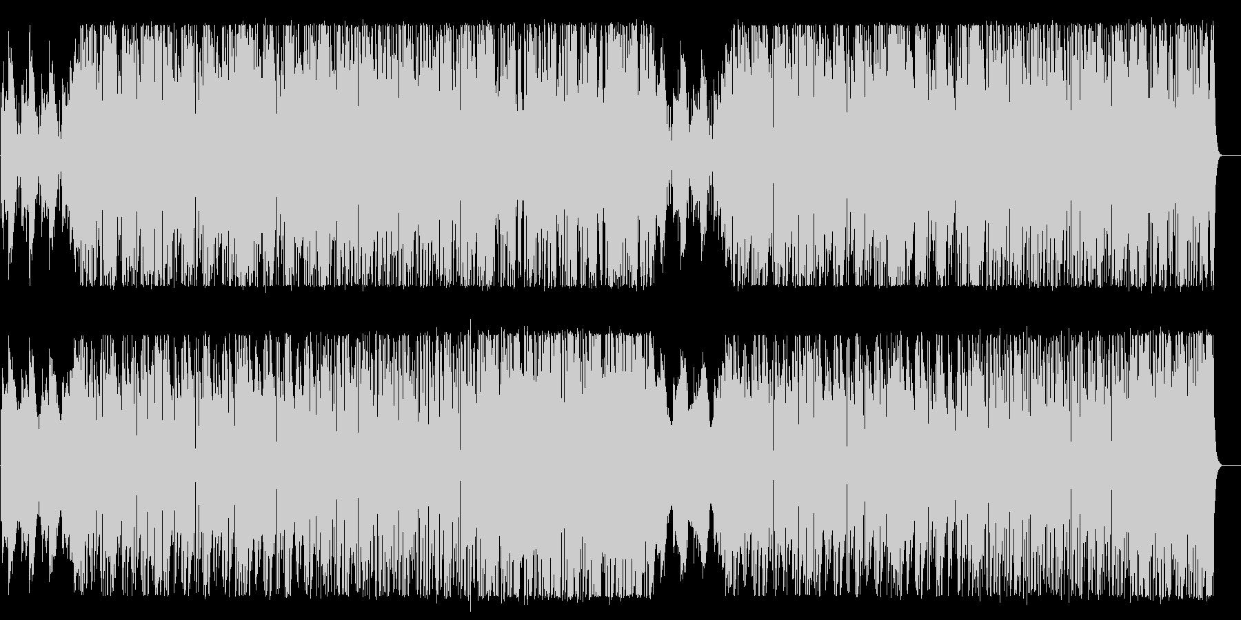 明るく軽やかなBGMの未再生の波形