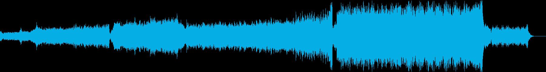近未来、感動、ハイブリッドオーケストラの再生済みの波形
