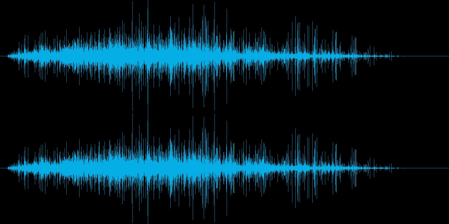 ごろごろガラガラ 瓦礫が崩れる音1の再生済みの波形