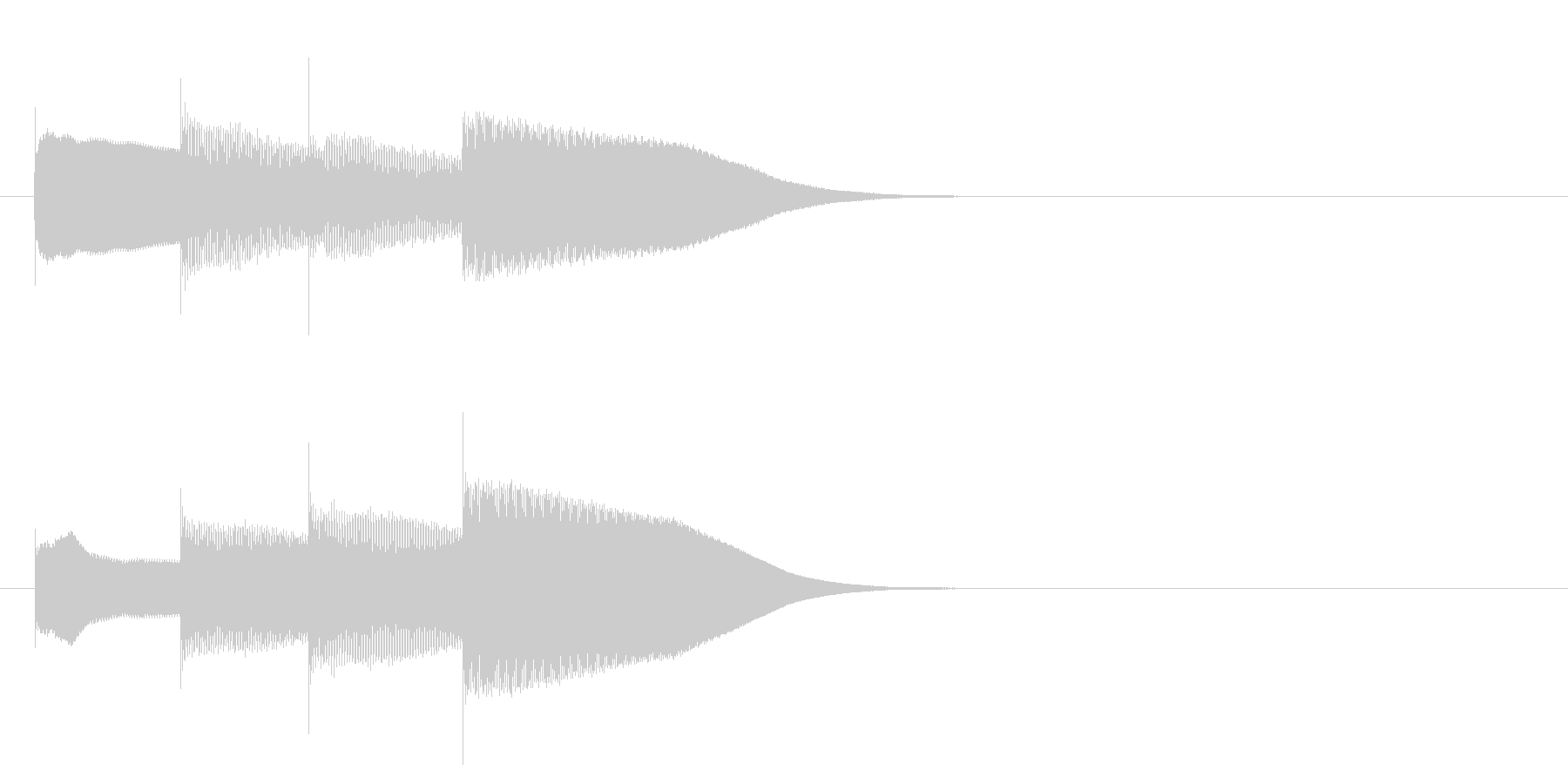 グロッケン系 決定音16(大)の未再生の波形