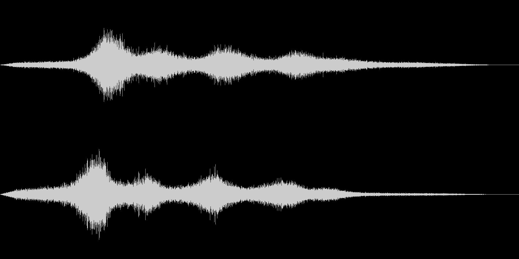 【生録音】 早朝の街 交通 環境音 1の未再生の波形