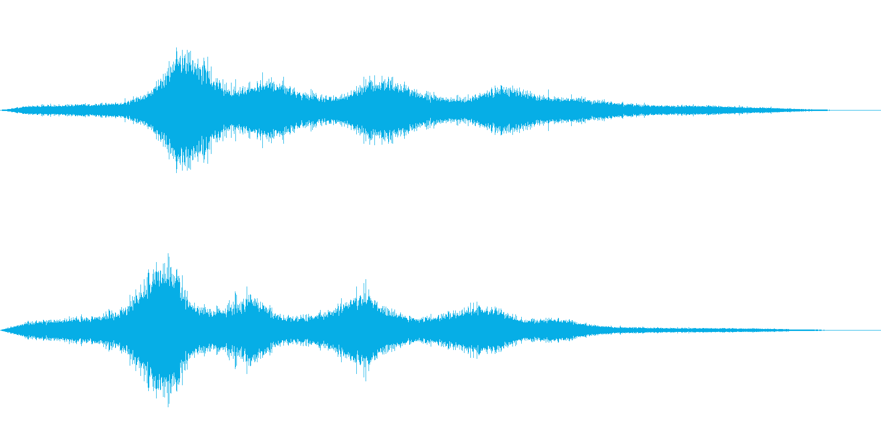 【生録音】 早朝の街 交通 環境音 1の再生済みの波形