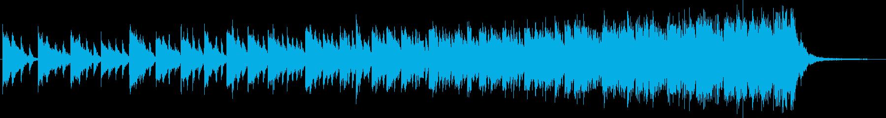 上昇する旋律が次第に早くなるSEの再生済みの波形