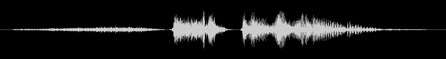 シニア男性:スロートクリアの未再生の波形