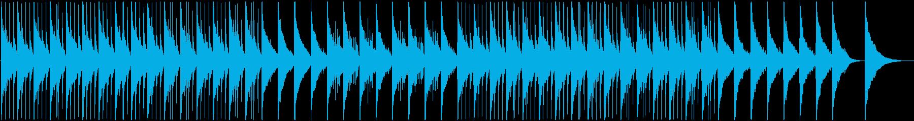 温かくて優しい子守り歌的なベルの楽曲の再生済みの波形