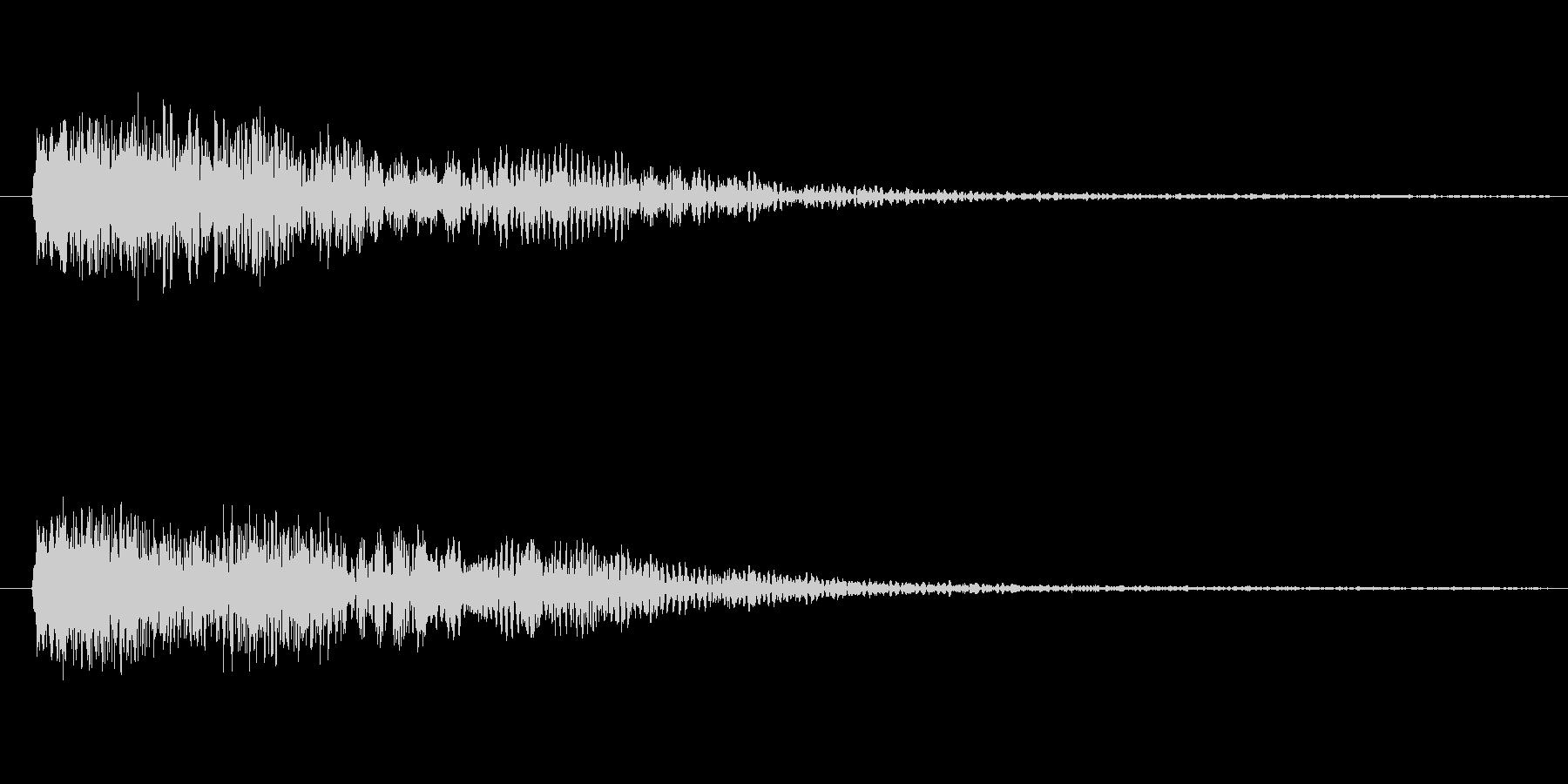 金属質な、ひゅーん(落ちる音、外した音)の未再生の波形