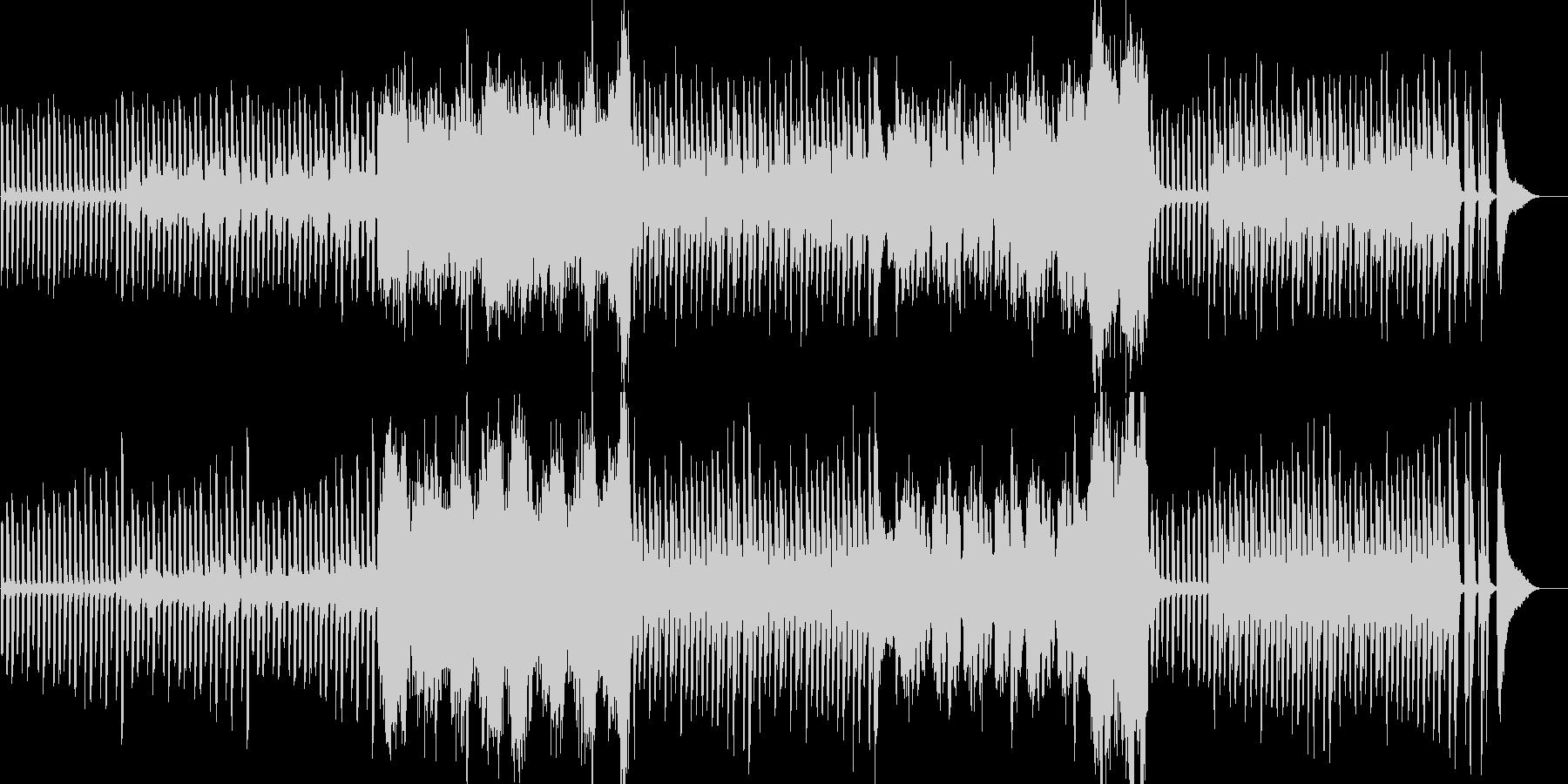不思議な雰囲気のピアノとクラリネットの未再生の波形
