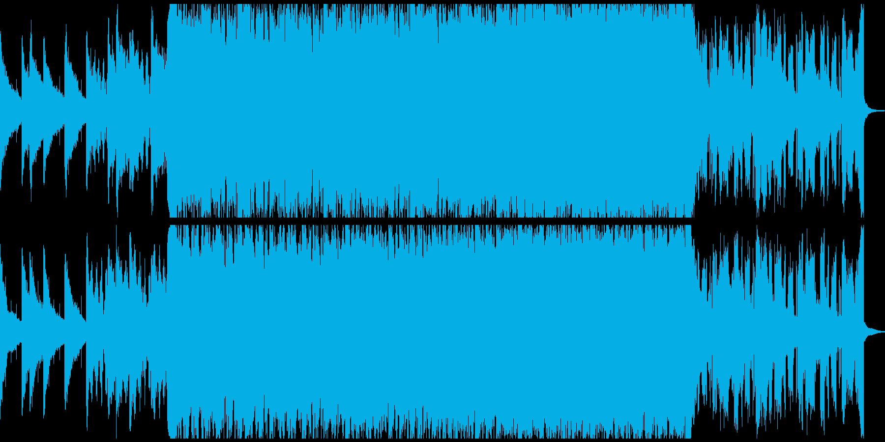 今っぽい洋楽風おしゃれトラップBGMの再生済みの波形