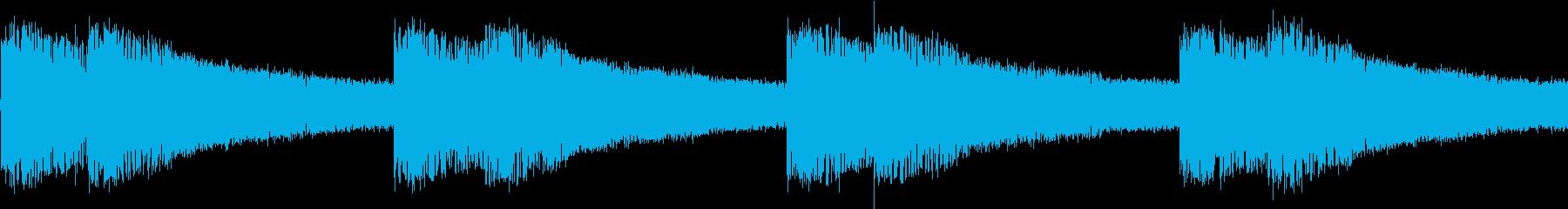 シンセ サイレン アナログ ピコピコ01の再生済みの波形