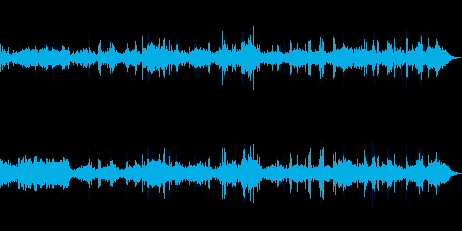 ピアノとシンセを使った優しいBGMの再生済みの波形