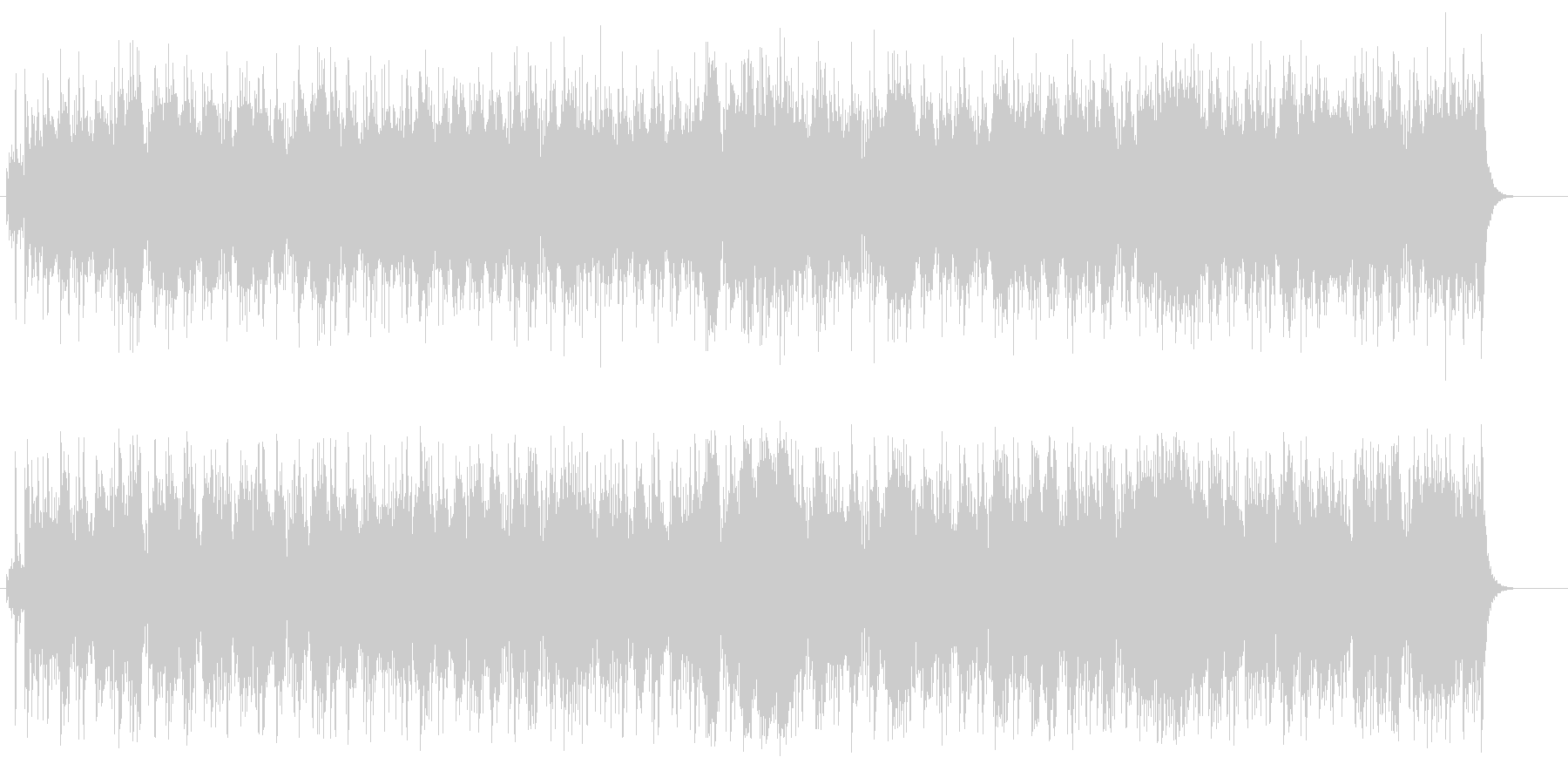 エスニック感覚のマイナー・ポップスの未再生の波形