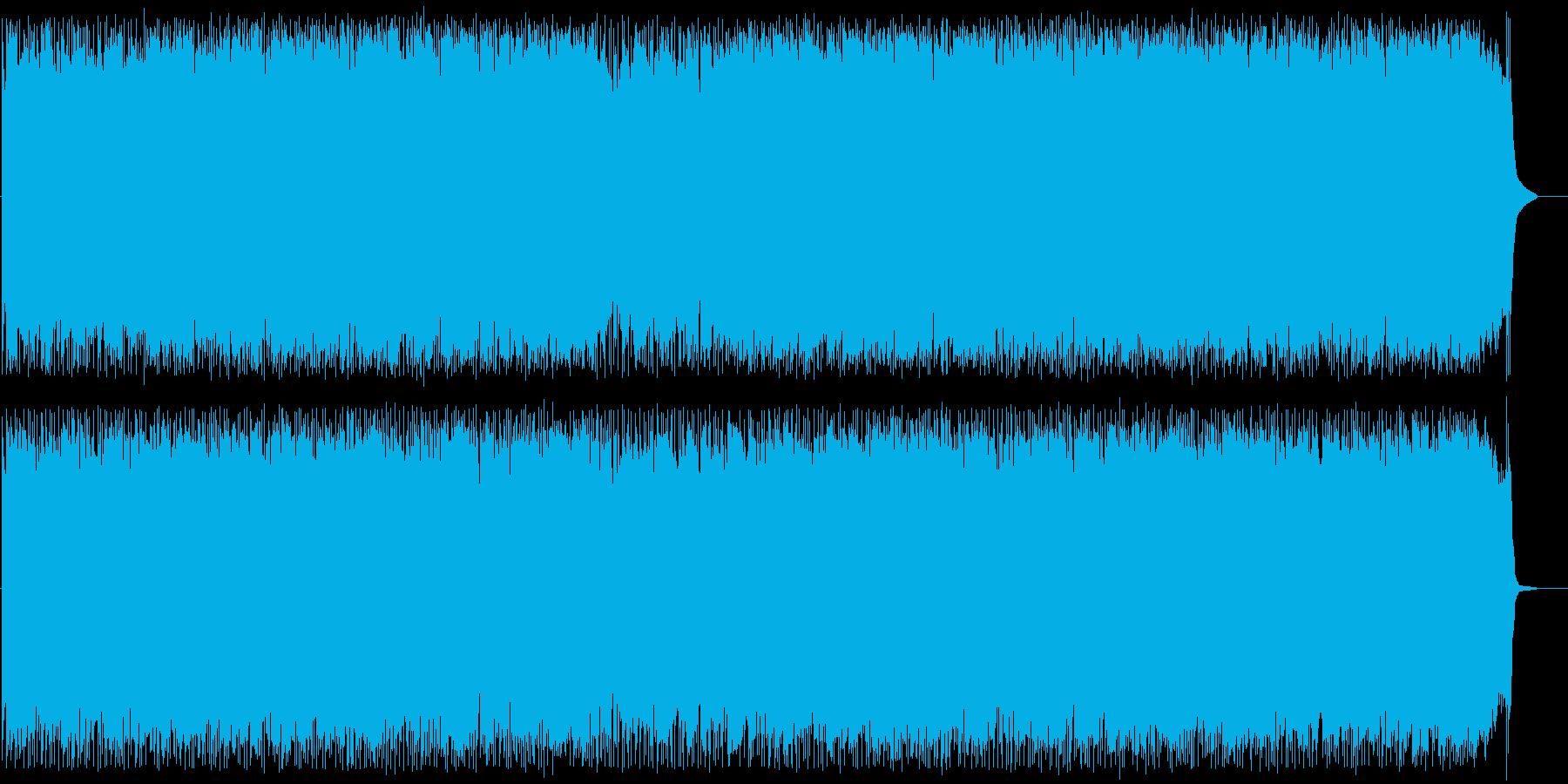 エキサイティングで躍動感あるロックの再生済みの波形