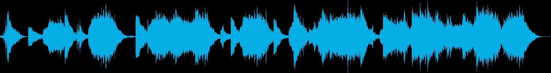 怖い太鼓や低音、1分以上。オープニングにの再生済みの波形
