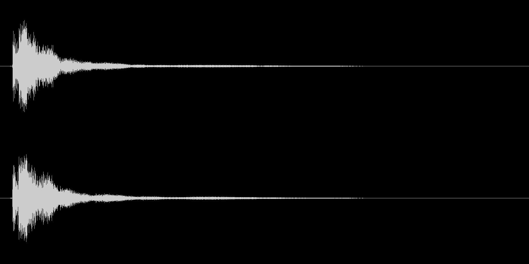 キン!金串(軽い金属棒)当たる音の未再生の波形