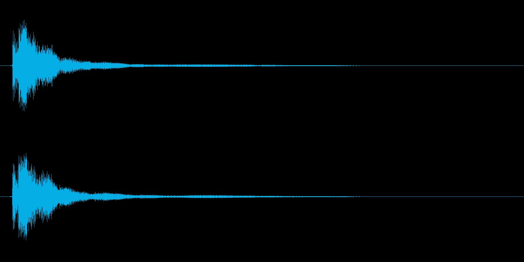 キン!金串(軽い金属棒)当たる音の再生済みの波形