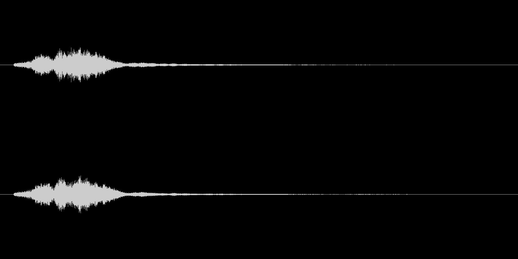 ハープグリッサンド上行3回~Eの未再生の波形