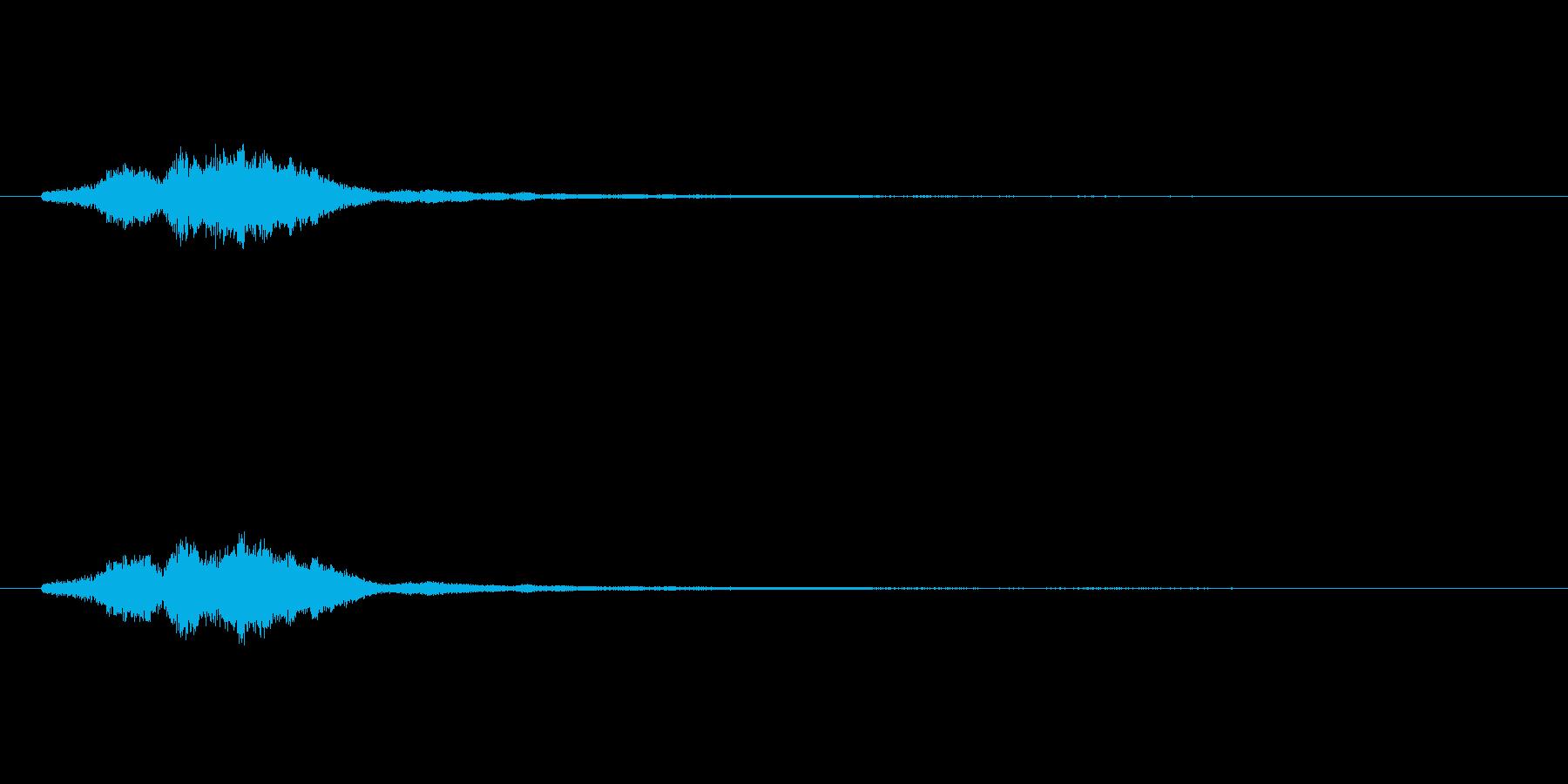 ハープグリッサンド上行3回~Eの再生済みの波形