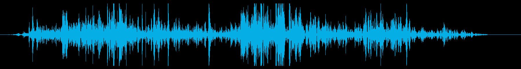 ショートミディアムロックスライドの再生済みの波形