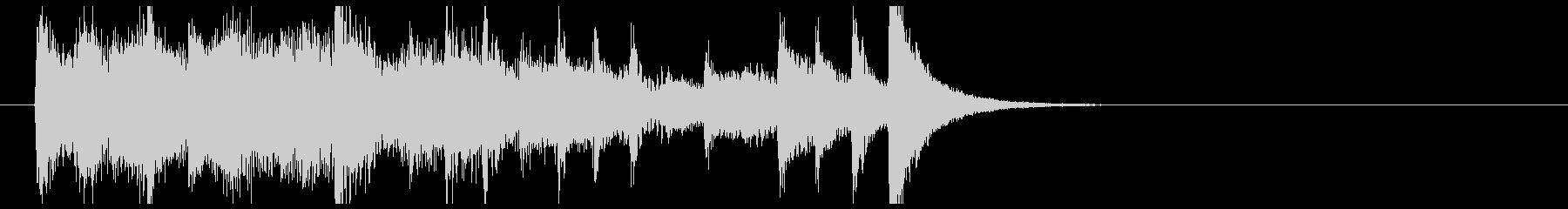 ピアノによるテンポの速い曲の未再生の波形