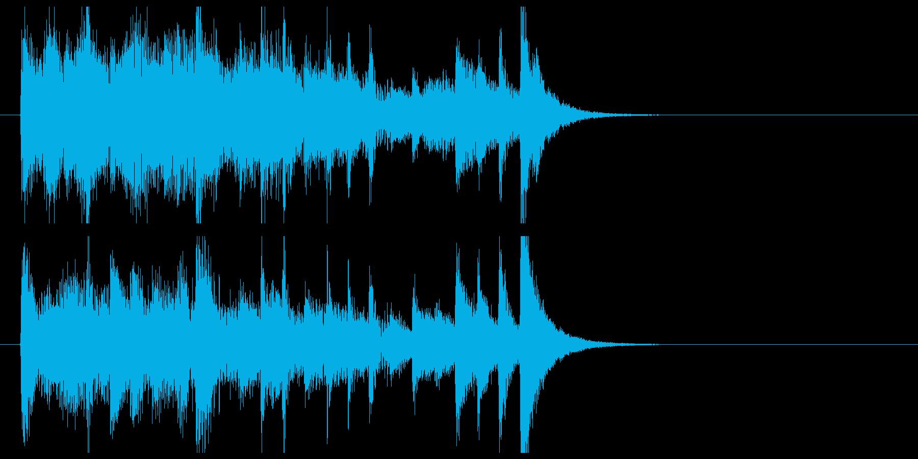 ピアノによるテンポの速い曲の再生済みの波形