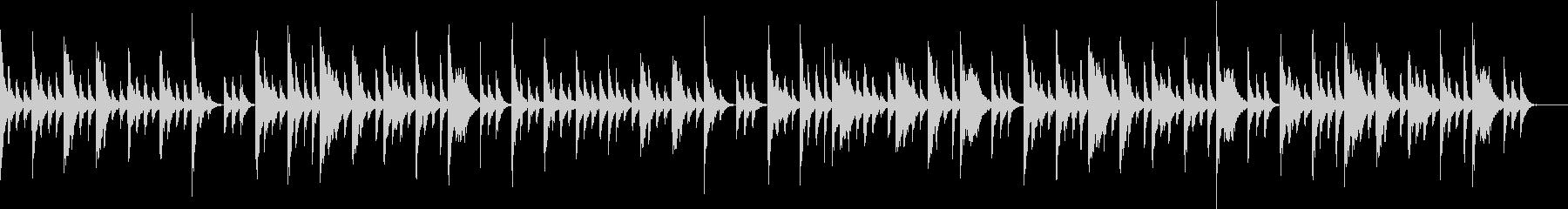 赤ちゃんに聴かせるエレクトリックピアノの未再生の波形