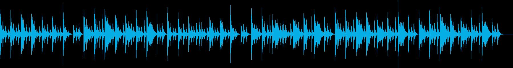 赤ちゃんに聴かせるエレクトリックピアノの再生済みの波形