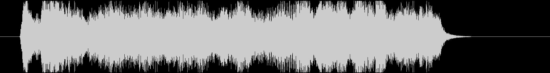 3拍子の優雅なストリングスジングルの未再生の波形