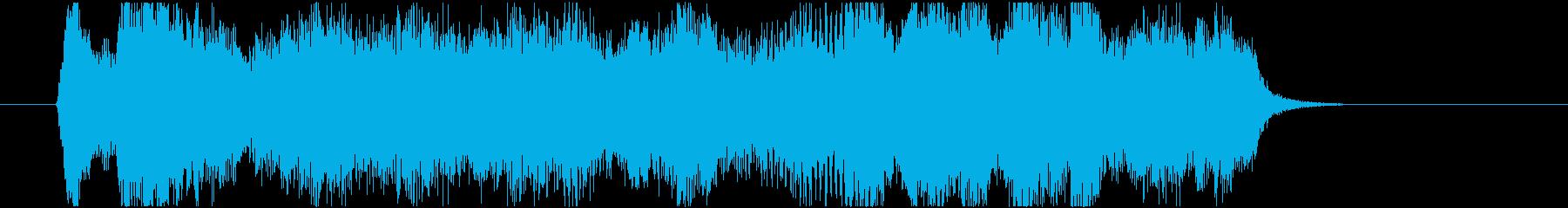 3拍子の優雅なストリングスジングルの再生済みの波形