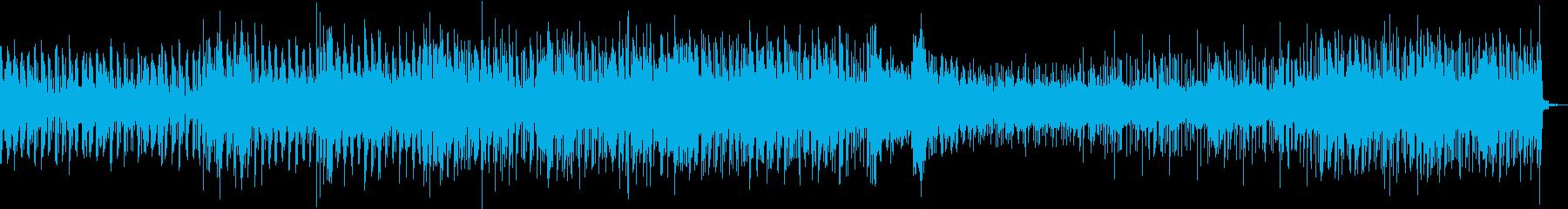 クールなテクノ風リズムトラックの再生済みの波形