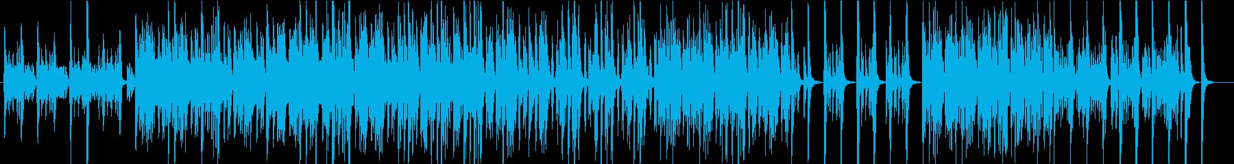 軽快なビートのオーケストラ楽器をフ...の再生済みの波形