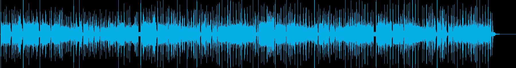 シンセ、不思議、ミステリアス系BGMの再生済みの波形