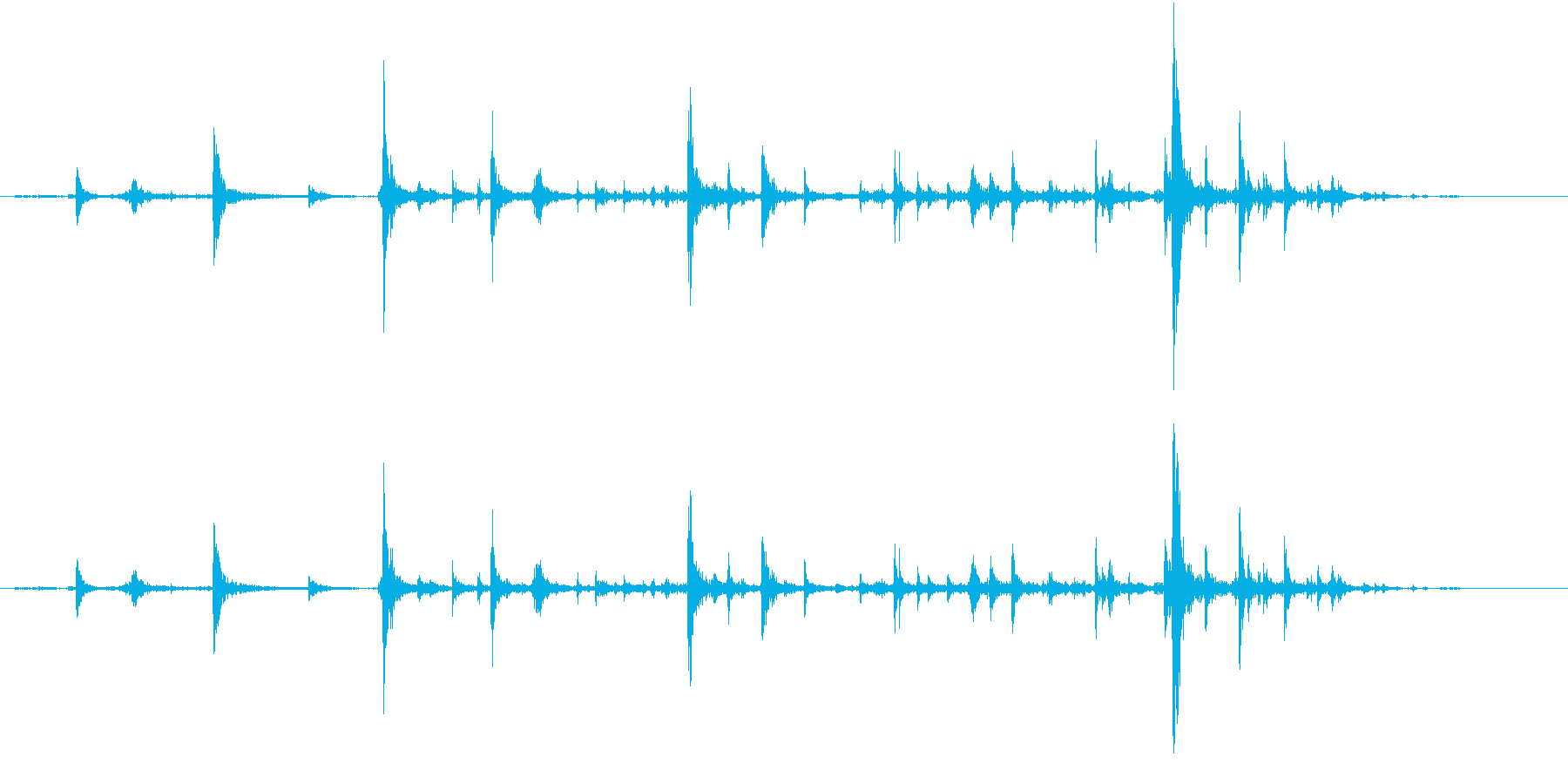 【生録音】弁当・惣菜パックの音 3の再生済みの波形