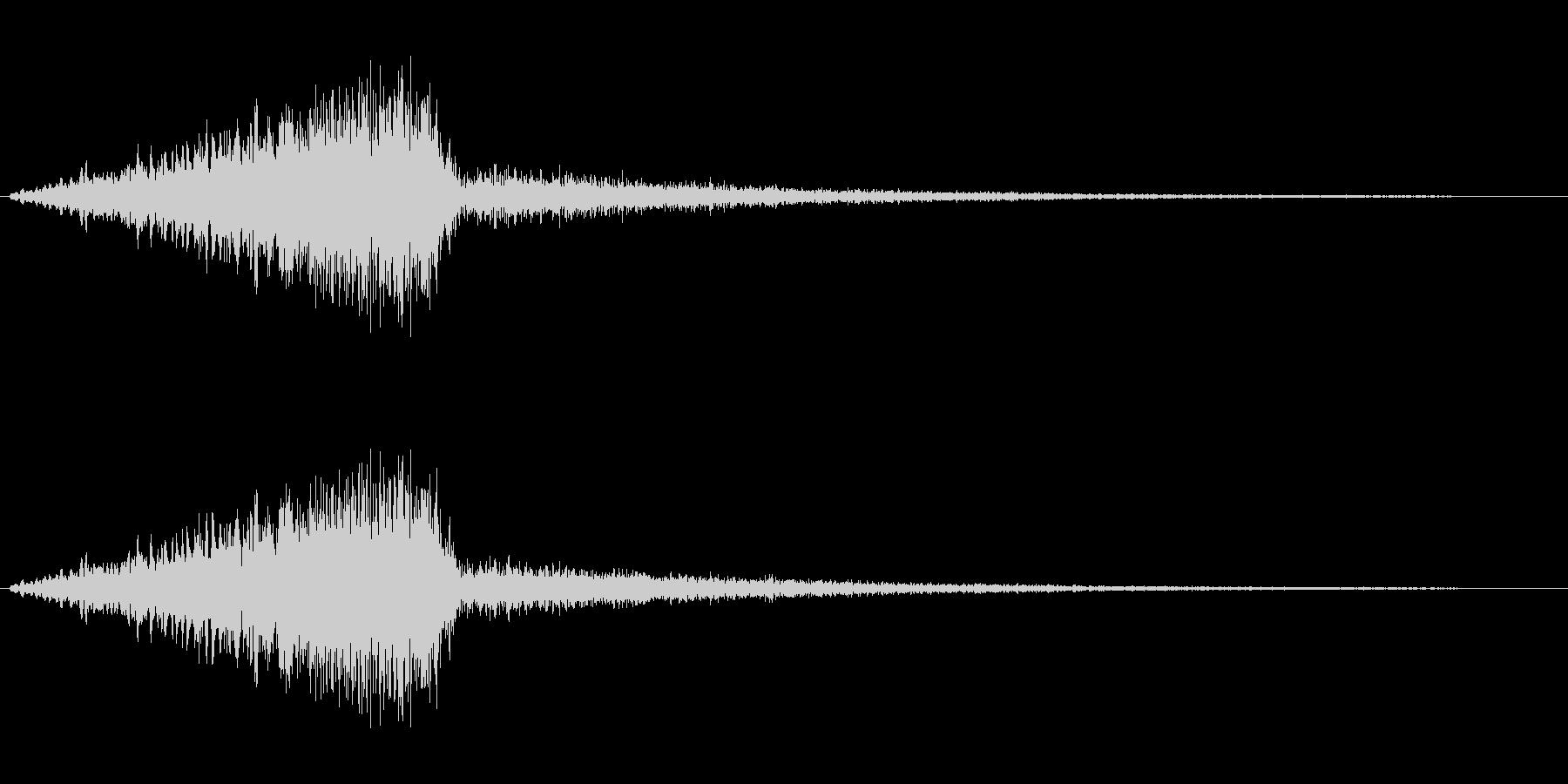 シャイニングスターの降る音の未再生の波形