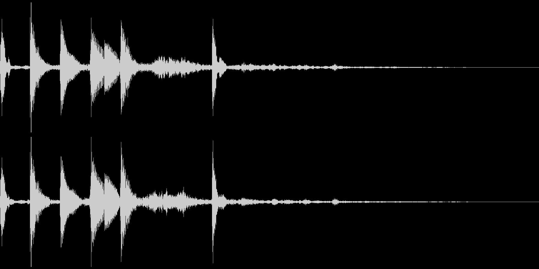 着信音風ジングル6の未再生の波形