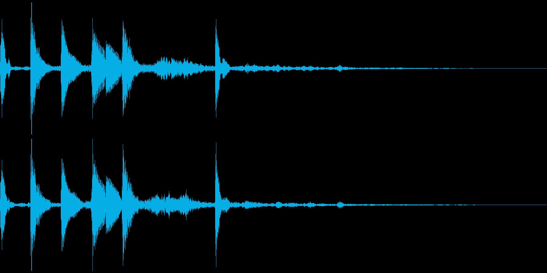着信音風ジングル6の再生済みの波形