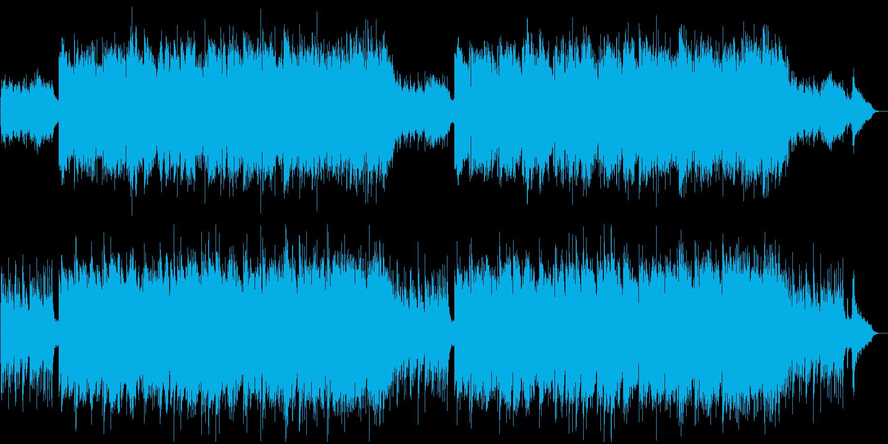 メロウで澄み渡るイメージのBGMの再生済みの波形