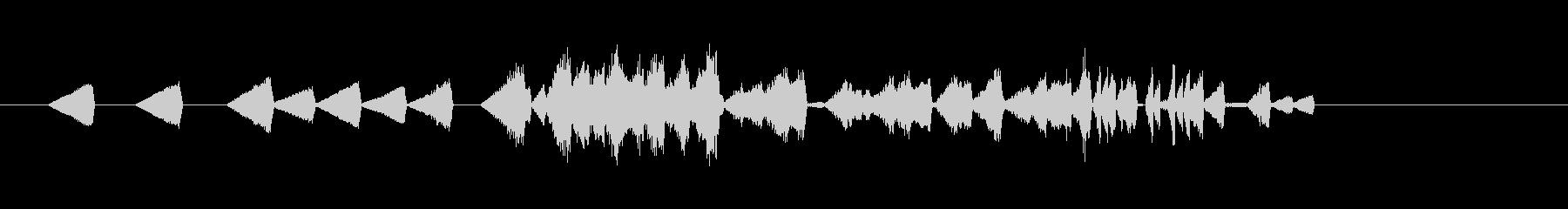 デジタル表示・メカ動作音・時間逆行#2の未再生の波形