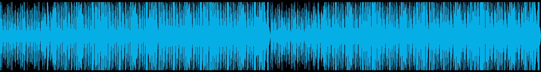 おしゃれ、賑やかなエレクトロスウィングの再生済みの波形