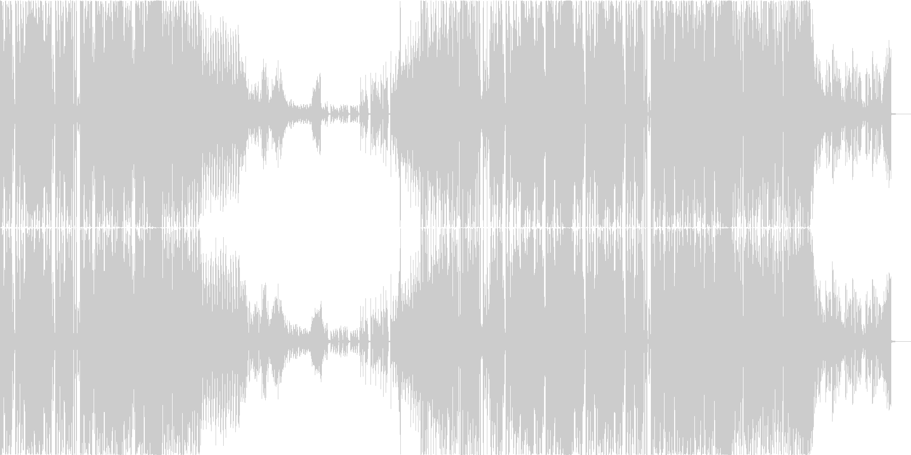 【CM】オシャレでクールなノリノリEDMの未再生の波形
