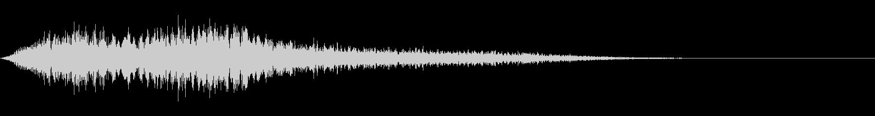 スーパー、テロップ等向け(ゴージャス)の未再生の波形