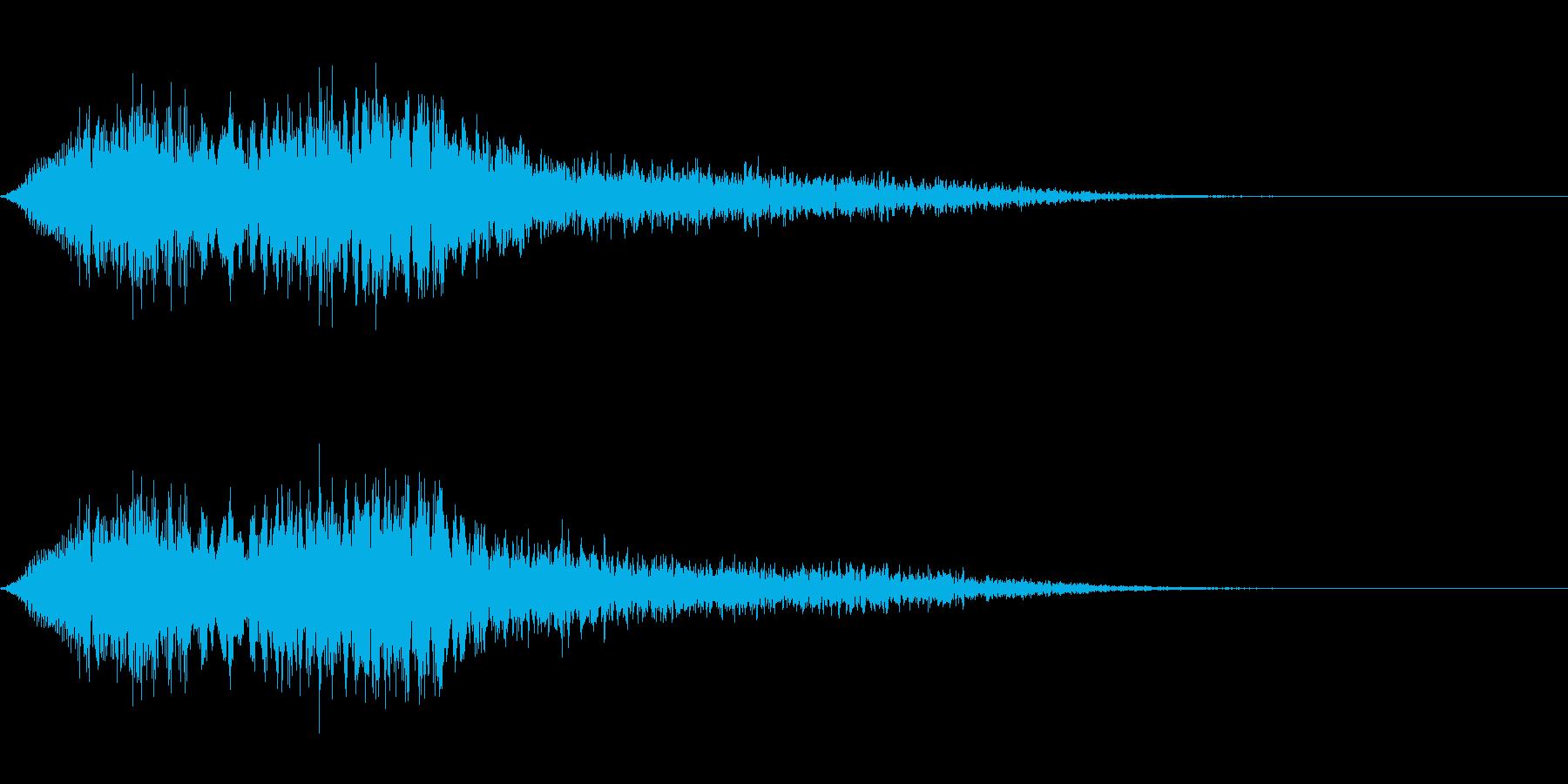 スーパー、テロップ等向け(ゴージャス)の再生済みの波形