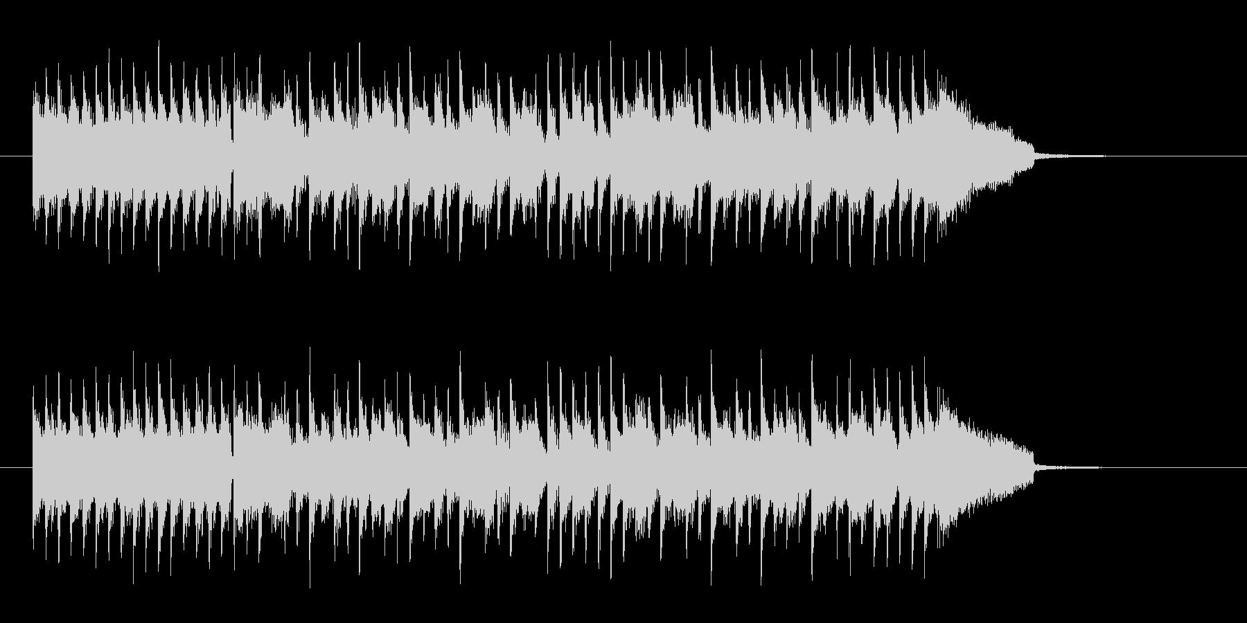 爽快なイメージのギターロックの未再生の波形