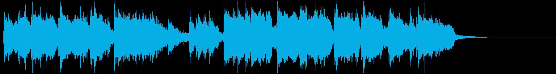 シリアスでタイトなテナーサックスジングルの再生済みの波形