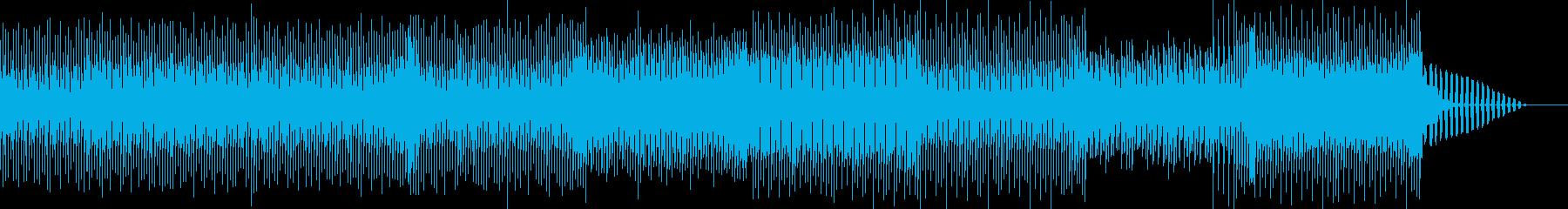 明るく爽やかなEDM系のBGMの再生済みの波形