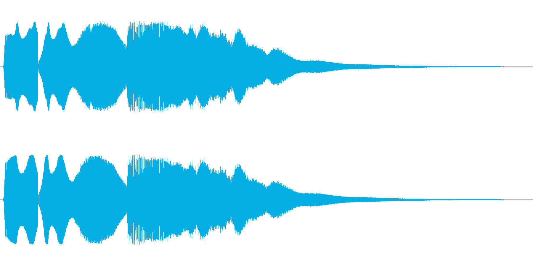 ピュウピューン(素早く去っていく音)の再生済みの波形
