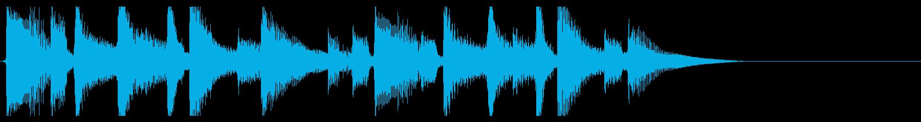 生演奏アコギのジングル5アルペジオの再生済みの波形